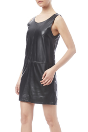 LoveRiche Black Faux Leather Dress - Front cropped