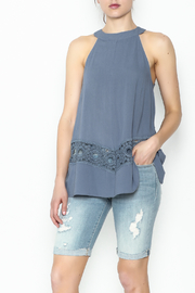 LoveRiche Blue Tank - Front cropped