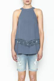 LoveRiche Blue Tank - Front full body