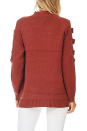 LoveRiche Brick Ladder Sleeve Sweater - Back cropped