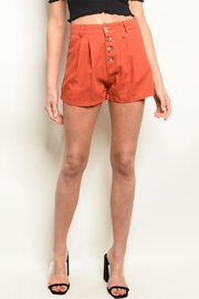 LoveRiche Brick Pleated Short - Product Mini Image