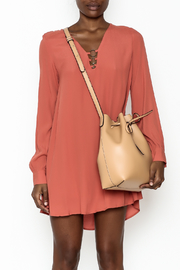 LoveRiche Burnt Orange Dress - Front full body
