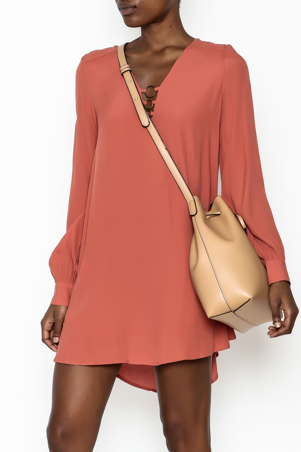 LoveRiche Burnt Orange Dress - Main Image