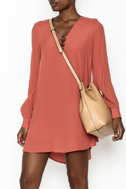 LoveRiche Burnt Orange Dress - Front cropped