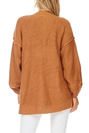 LoveRiche Camel Boyfriend Cardigan - Side cropped