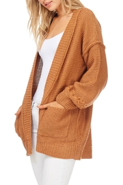 LoveRiche Camel Boyfriend Cardigan - Front full body
