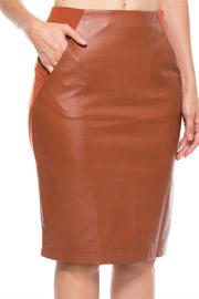 LoveRiche Camel Faux Skirt - Product Mini Image