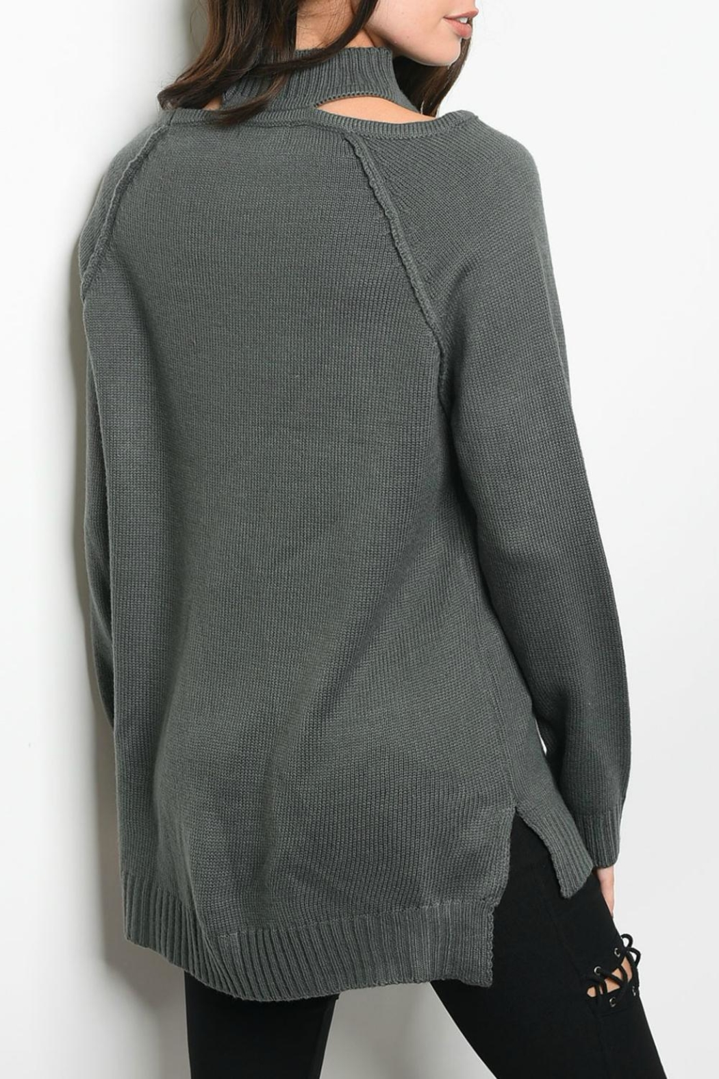 LoveRiche Charcoal Sweater - Front Full Image