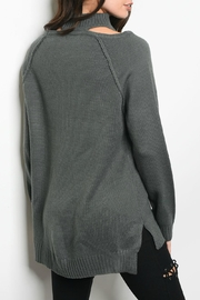 LoveRiche Charcoal Sweater - Front full body