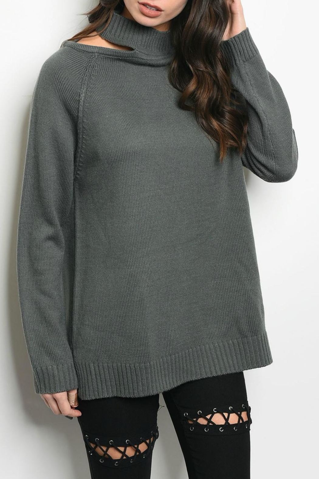 LoveRiche Charcoal Sweater - Main Image