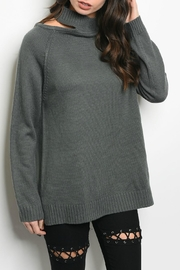 LoveRiche Charcoal Sweater - Front cropped