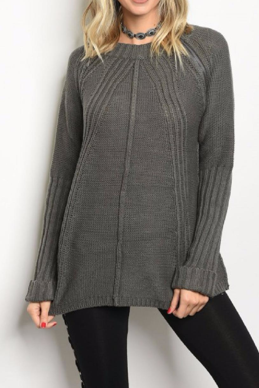 LoveRiche Chunky Knit Sweater - Main Image