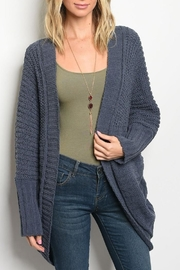 LoveRiche Chunky Navy Cardigan - Front cropped