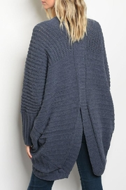 LoveRiche Chunky Navy Cardigan - Front full body
