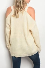 LoveRiche Cold Shoulder Sweater - Front full body