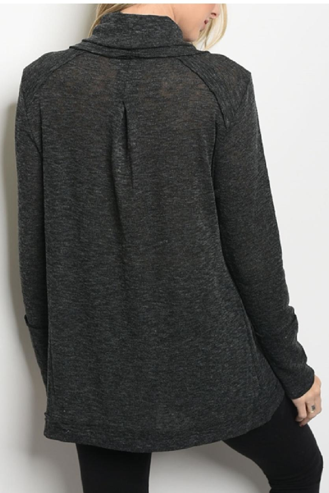 LoveRiche Cowl Neck Top - Front Full Image