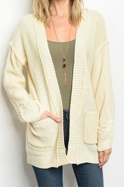 LoveRiche Cream Cardigan - Product Mini Image