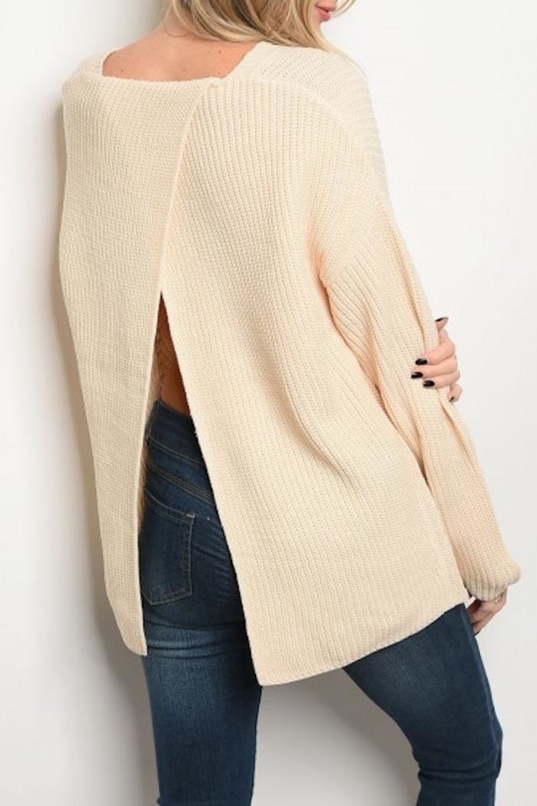 LoveRiche Crossover Back Sweater - Front Full Image