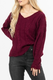 LoveRiche Distressed Knit Sweater - Front cropped