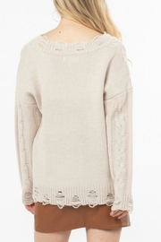LoveRiche Distressed Knit Sweater - Front full body