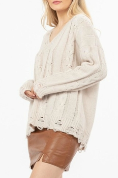 LoveRiche Distressed Knit Sweater - Alternate List Image