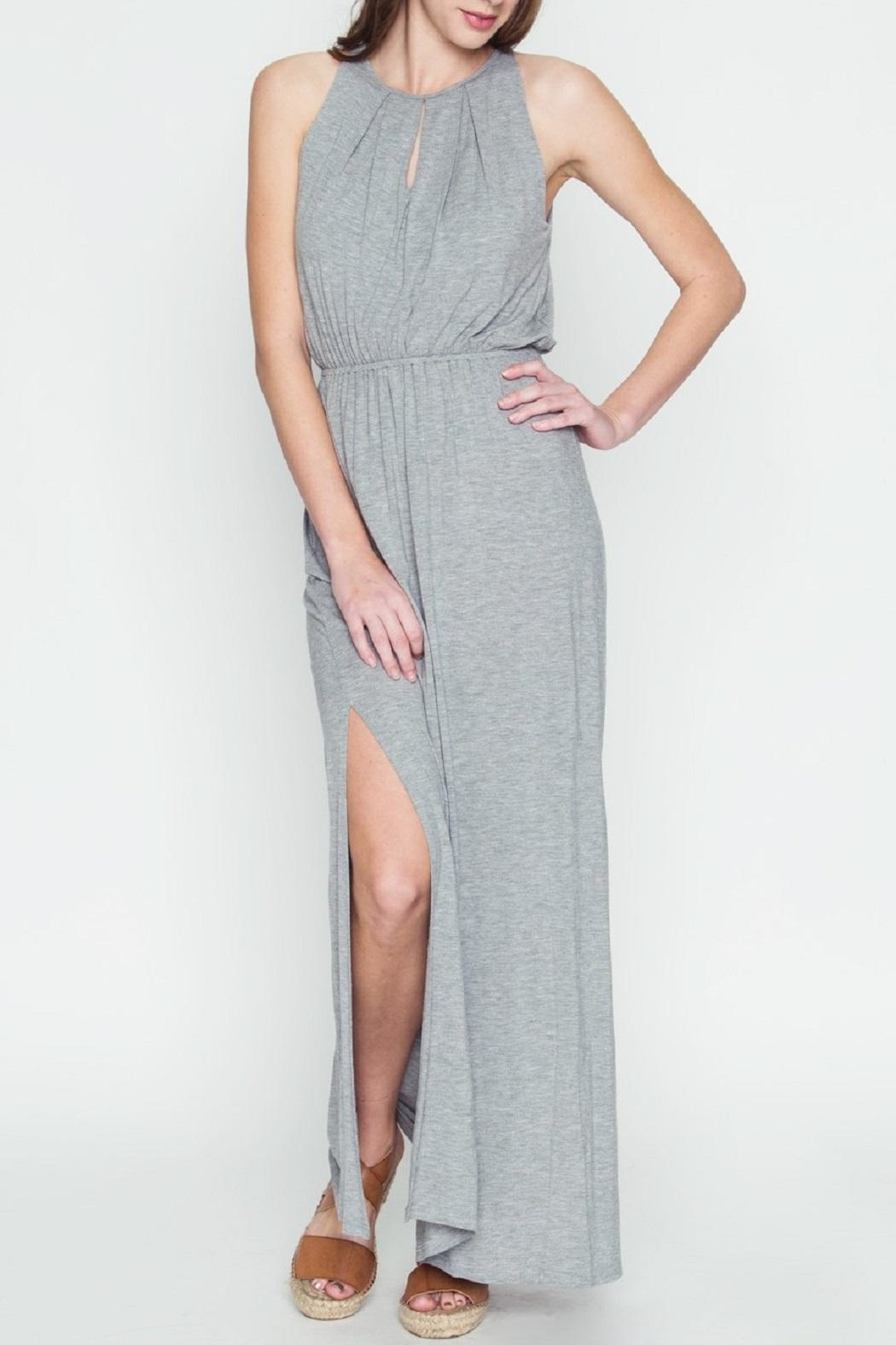 LoveRiche Halter Maxi Dress - Front Full Image