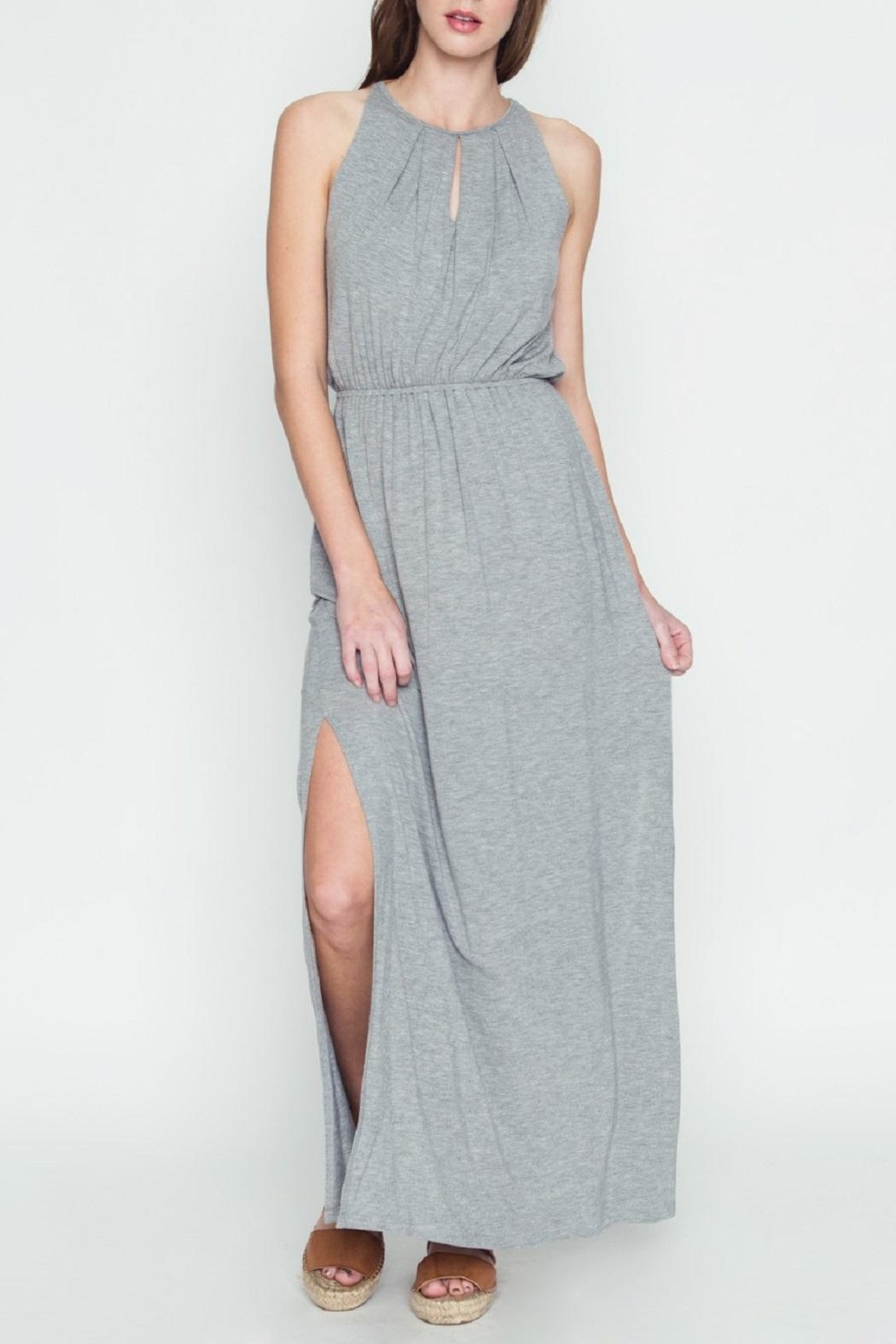 LoveRiche Halter Maxi Dress - Front Cropped Image