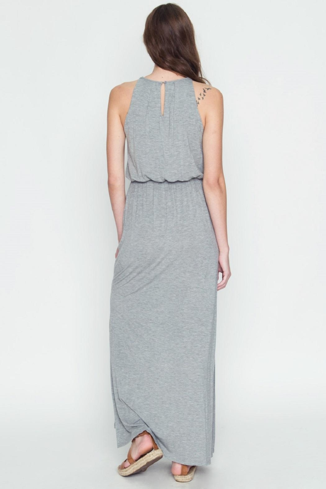 LoveRiche Halter Maxi Dress - Back Cropped Image