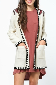 Shoptiques Product: Embroidered Cardigan Sweater