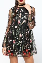 LoveRiche Embroidered Floral Dress - Product Mini Image