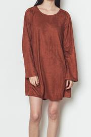 LoveRiche Faux Suede Dress - Front cropped