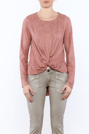 LoveRiche Blush Faux Suede Top - Side cropped