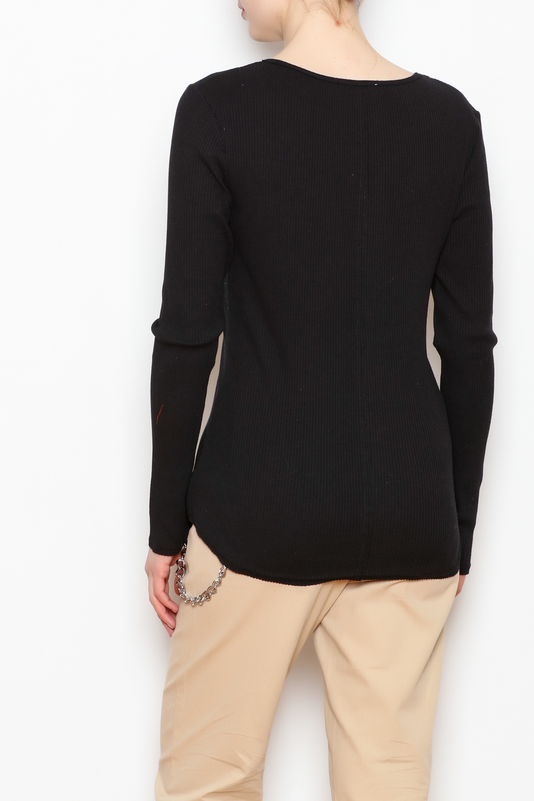 LoveRiche Fitted Long Sleeve - Back Cropped Image
