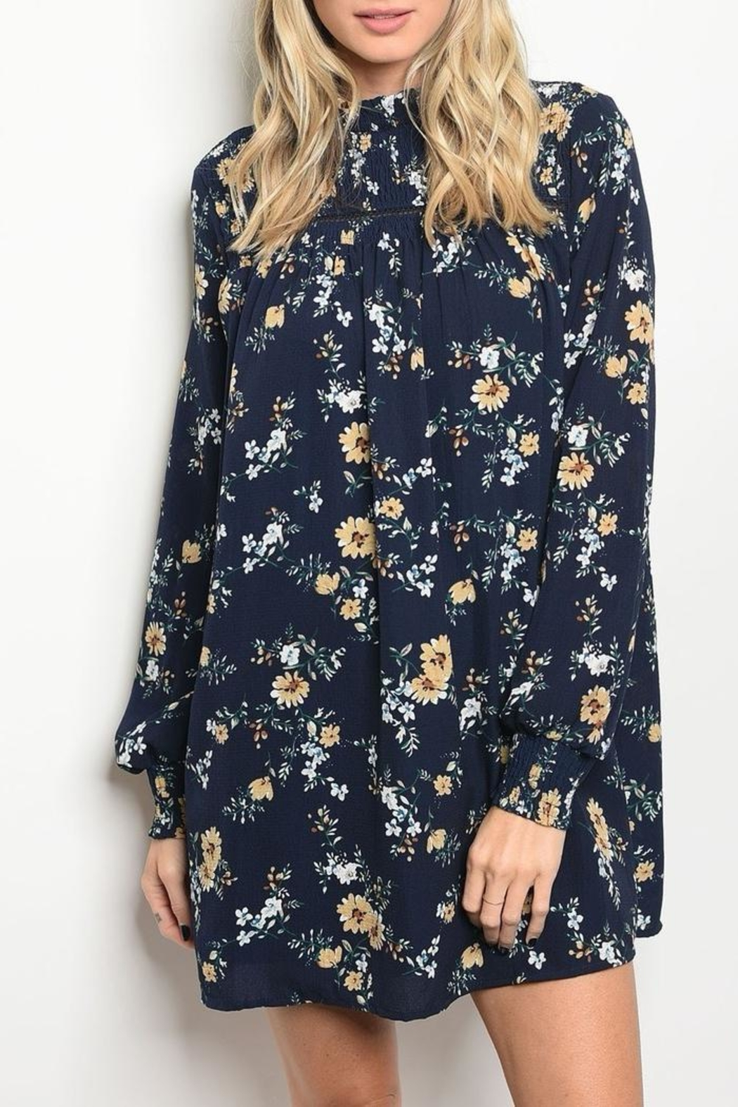 LoveRiche Floral Navy Dress - Main Image
