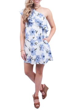 LoveRiche Floral One Shoulder Dress - Product List Image