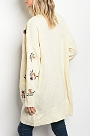 LoveRiche Floral Sweater Cardigan - Front full body