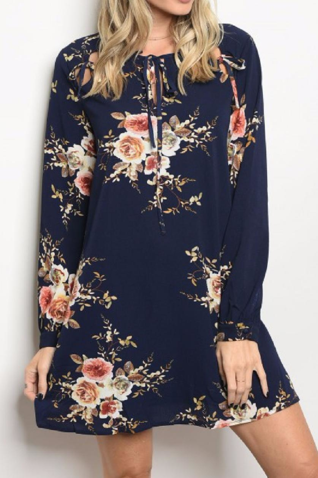 LoveRiche Floral Tunic Dress - Main Image