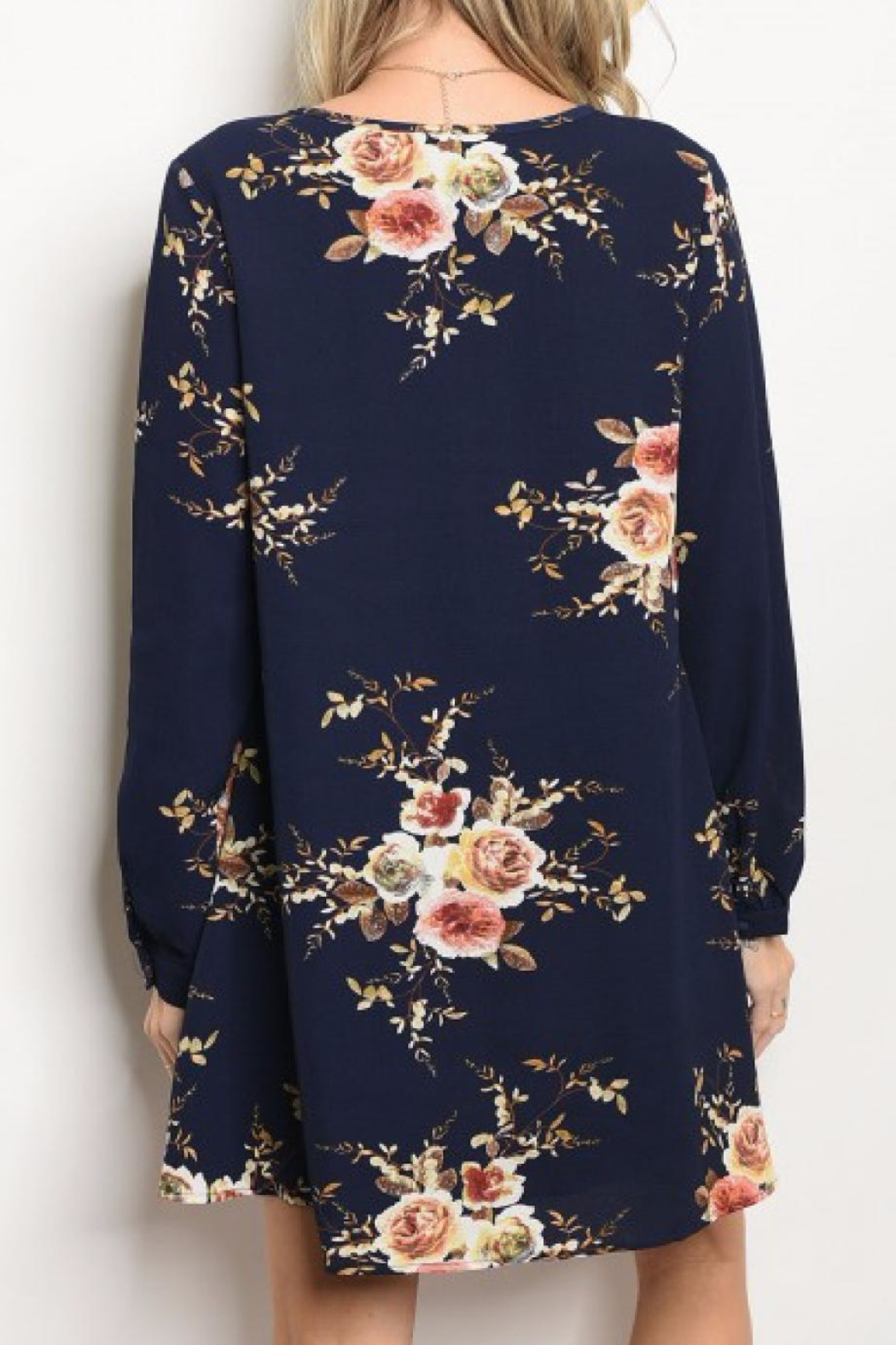 LoveRiche Floral Tunic Dress - Front Full Image