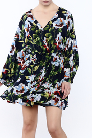 LoveRiche Floral Wrap Dress - Front cropped