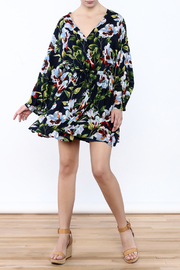 LoveRiche Floral Wrap Dress - Front full body