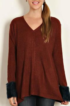 Shoptiques Product: Fuzzy Cuff Sweater