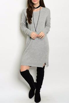 Shoptiques Product: Gray Sweater Dress