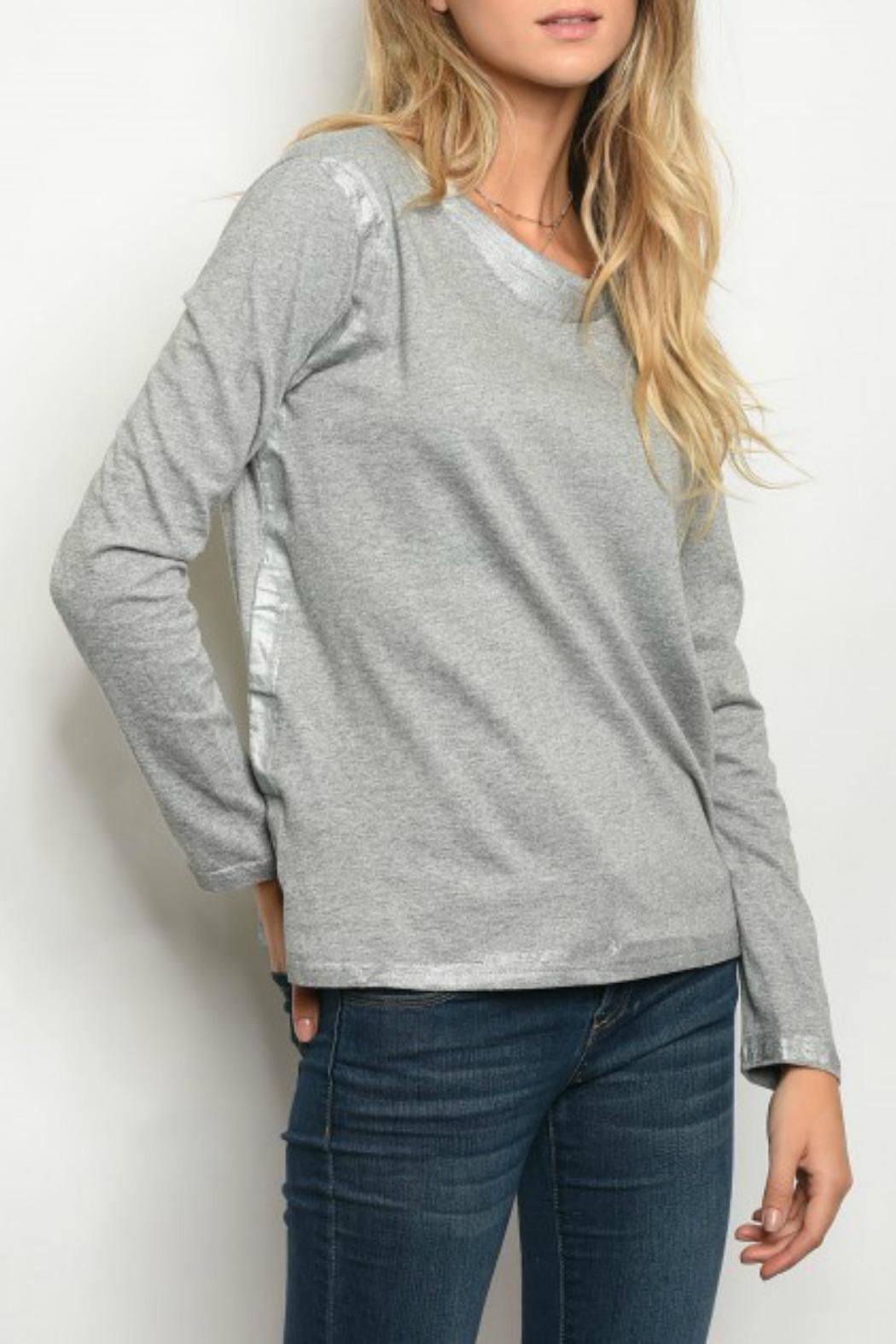 LoveRiche Grey Top - Main Image