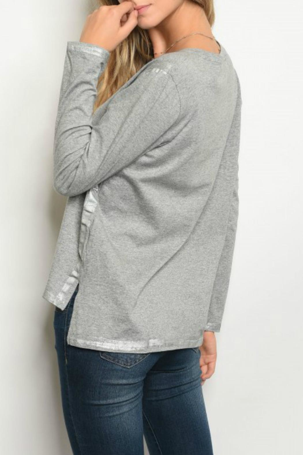 LoveRiche Grey Top - Front Full Image