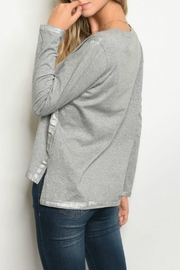 LoveRiche Grey Top - Front full body