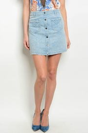 LoveRiche Highwaist Denim Skirt - Product Mini Image
