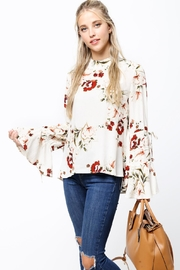 LoveRiche Ivory Floral Top - Product Mini Image