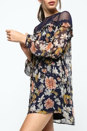 LoveRiche Lace-Capped Floral Dress - Side cropped