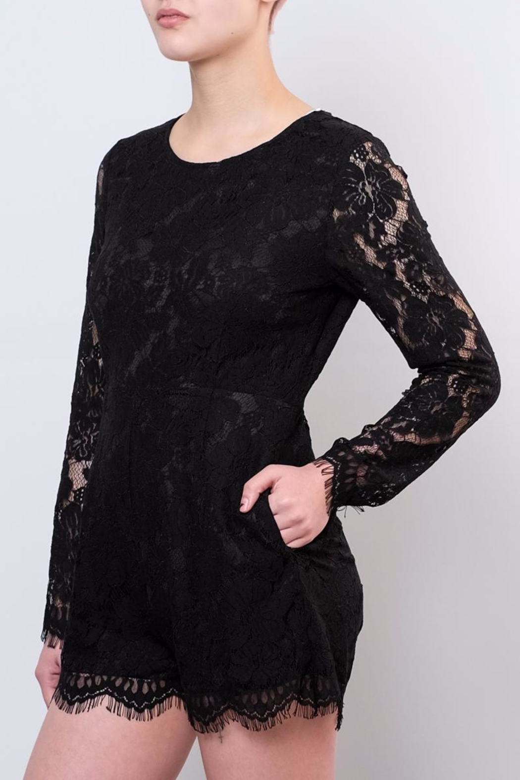 LoveRiche Lace Romper - Front Full Image