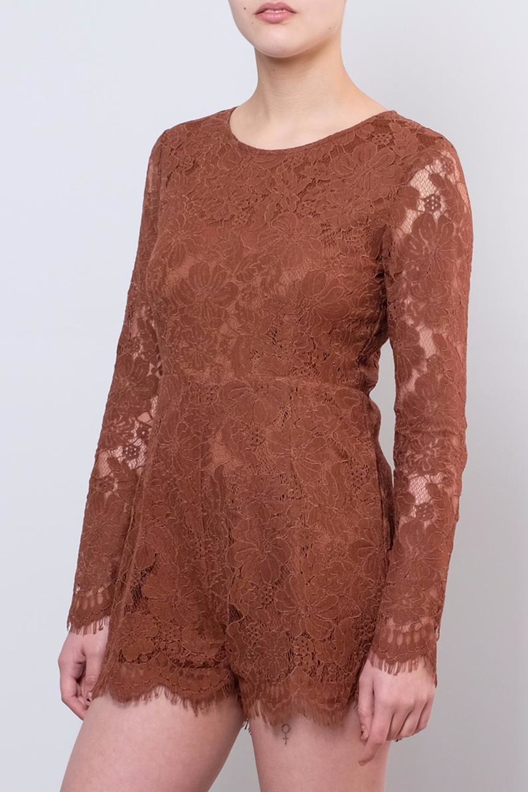 LoveRiche Lace Romper - Front Cropped Image